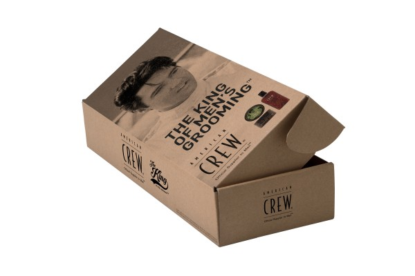 THE KING OF MEN'S GROOMING SET AMERICAN CREW FORMING CREAM XMAS